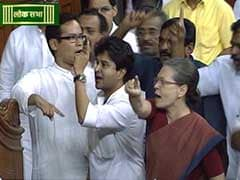 Sonia Gandhi, Furious at 'Black Money' Barb, Protests Near Speaker's Chair
