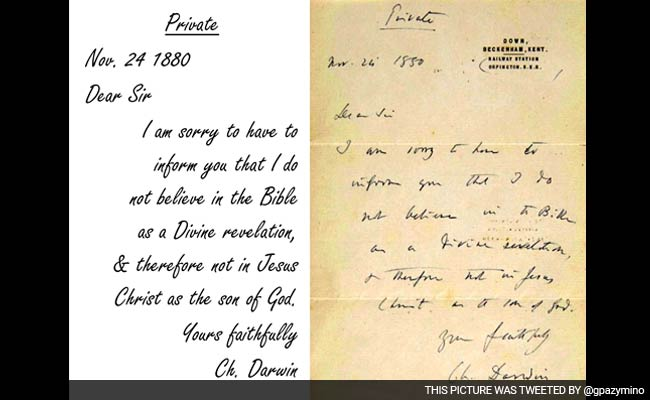an analysis of letter for charles darwin The theory of evolution, according to which human beings suffer alterations with the passage of time and come from other ancestral forms, is relatively recent although the british naturalist charles darwin is considered the father of the current theory of evolution, the concept was not new at the time.
