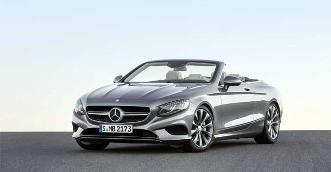 Auto expo 2016 mercedes benz s class cabriolet makes for What country makes mercedes benz cars