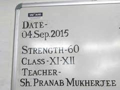 On Teachers' Day, This is What President Pranab Mukherjee Will Teach