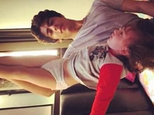 Shah Rukh's Latest Tweet Stars an 'Upside Down' AbRam and a 'Big Brother'