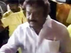 DMDK Chief Vijayakanth Undergoing Yoga Training Session