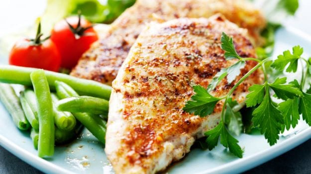 cooked chicken breast