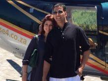 Akshay, Twinkle Take Daughter Nitara For Vacation