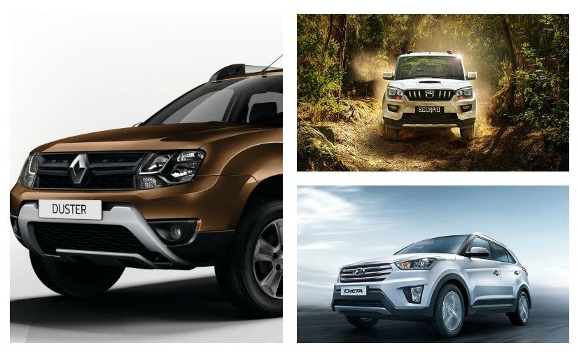 renault duster amt vs hyundai creta at vs mahindra scorpio at spec comparison news ndtv. Black Bedroom Furniture Sets. Home Design Ideas