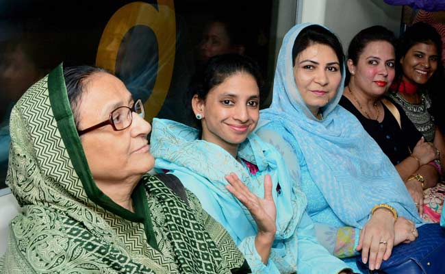 Back From Pakistan, Geeta Takes a Ride on the Delhi Metro, Tours Museum