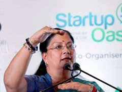 Vasundhara Raje's Helicopter Makes Emergency Landing Due To Bad Weather