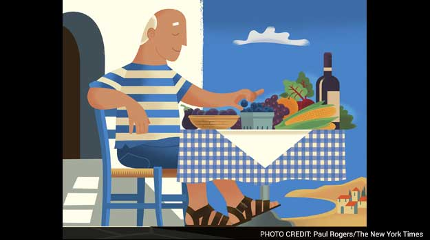 To Lower Cholesterol, Try a Foray Into the Mediterranean