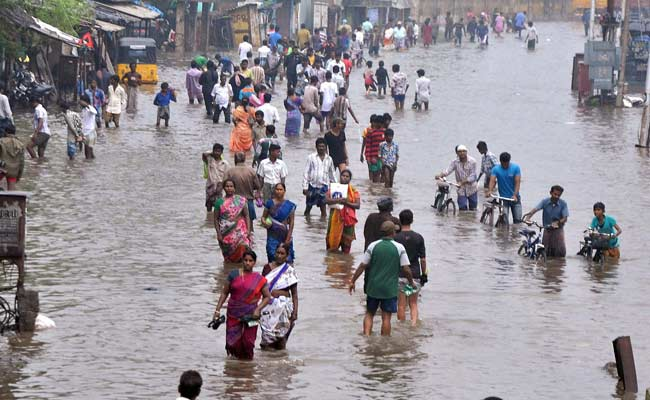 Chennai Pockets Under Water Again as Rains Pound Tamil Nadu