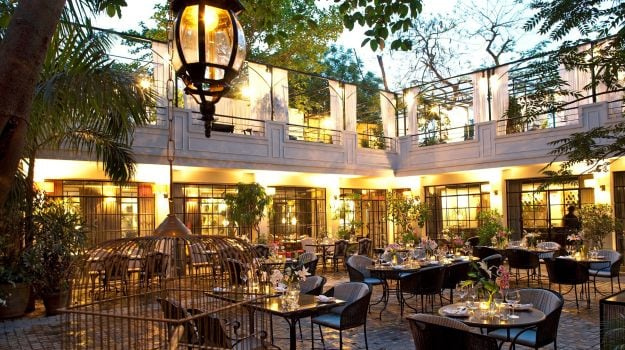 Best outdoor restaurants in delhi dining under the stars for Top of the terrace restaurant