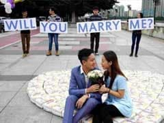 Chinese Man Proposes with Diapers Instead of Diamonds