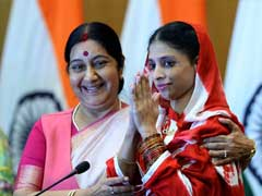 Sushma Swaraj Meets Geeta, Hints At Help To Find Her Parents