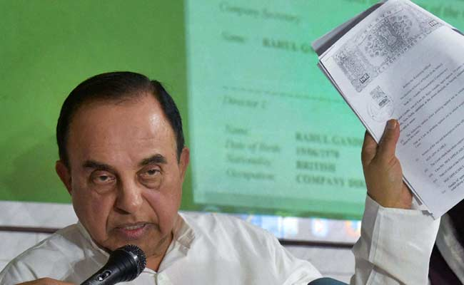Subramanian Swamy Demands Probe Into Transfer Of Shares In National Herald
