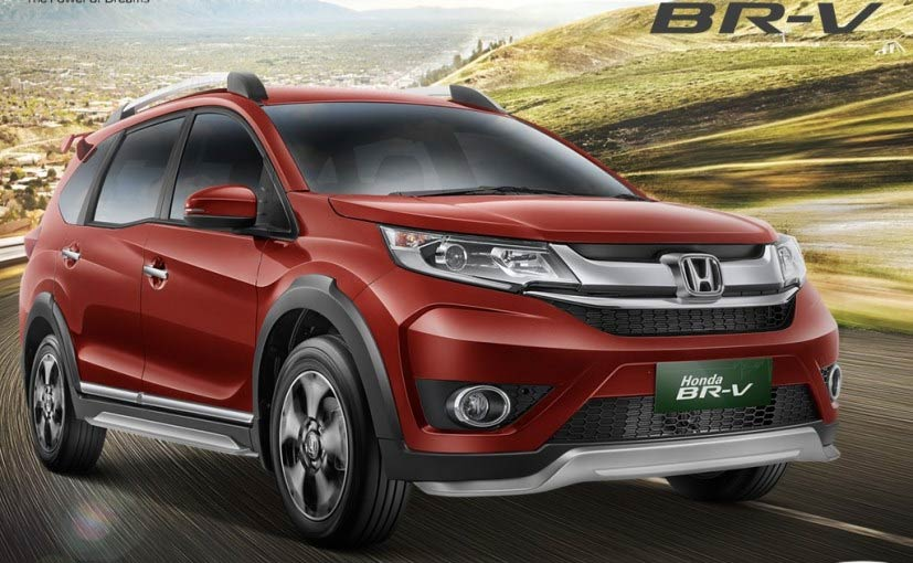Honda br v production version unveiled to be showcased at for Honda compact suv
