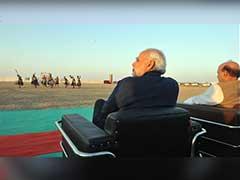 कच्छ में डीजीपी कॉन्फ्रेंस : पीएम नरेंद्र मोदी ने रण में देखा सूर्यास्त