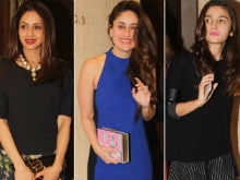 Inside Pics of Manish's Birthday Party With Sridevi, Alia, Kareena