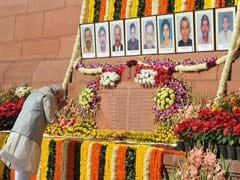 संसद पर हमले की बरसी : राजनाथ सिंह ने कहा, मोदी सरकार को आतंकवाद कतई बर्दाश्त नहीं