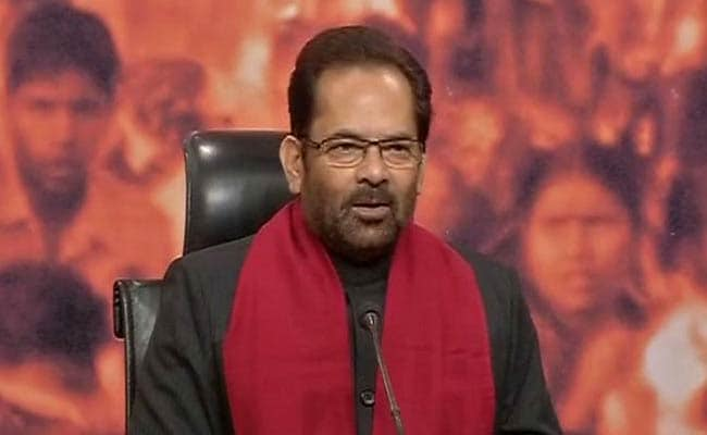 Modi Government Wants Safe And Peaceful India, Says Mukhtar Abbas Naqvi