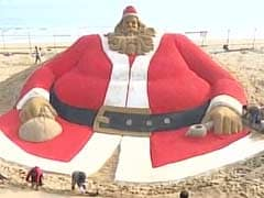Sand Santa Claus In Limca Book Of Records