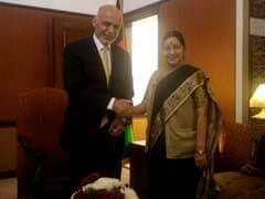 Sushma Swaraj Calls on Afghan President; Meets Kyrgyz, Iranian Counterparts