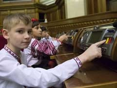 Children Replace Lawmakers in Ukraine's Often-Rowdy Parliament