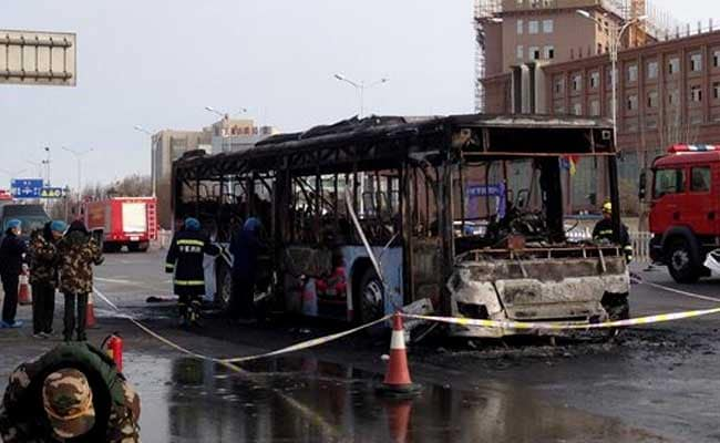 Bus Catches Fire In North China, 14 Dead, Over 30 Injured