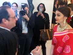 French President Francois Hollande Meets Actor Aishwarya Rai Bachchan