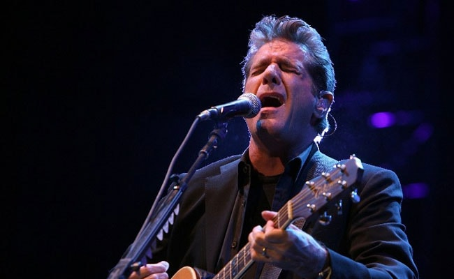 Eagles guitarist and founding member Glenn Frey, an American rocker ...