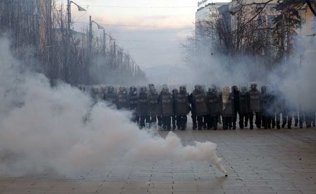 Large Anti-Government Protest In Kosovo Turns Violent