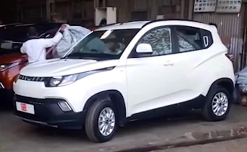 Mahindra Kuv100 Spotted At Dealer S Yard Ahead Of Launch