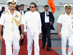 Sri Lankan President Visits India's Largest Aircraft Carrier INS Vikramaditya