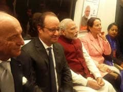 PM Modi, French President Francois Hollande Take Metro Ride To Gurgaon