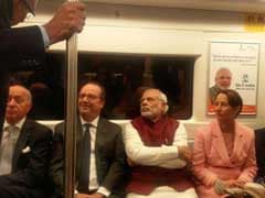 PM Modi, President Hollande Ditch Cavalcades, Ride Metro To Gurgaon