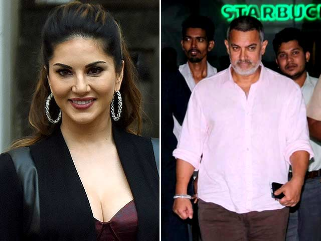 Sunny Leone Needs Just 'a Second' With Aamir Khan to be 'Happiest Girl'