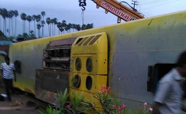 10 Dead After Bus Overturns In Tamil Nadu's Tirunelvelli District