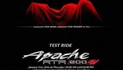 New 200cc TVS Apache to Be Christened Apache RTR 200 4V
