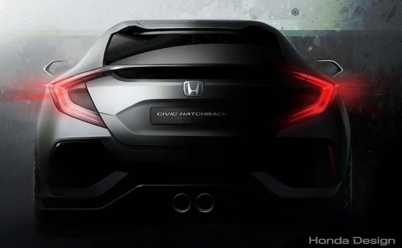 2017 Honda Civic Hatchback Concept Teased; Debut at Geneva Motor Show ...
