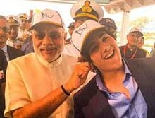 Ahoy There, That's Akshay, Twinkle's Son Aarav With PM Modi at Fleet Review