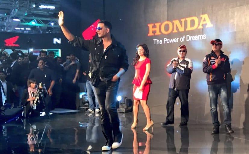 Akshay Kumar at the Honda pavilion