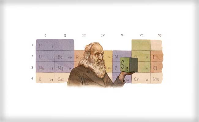 Google Marks 182nd Birthday of Periodic Table's Creator