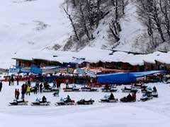 Light Snowfall In Higher Reaches Of Kashmir