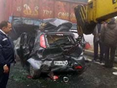 30-Car Pile-Up On Haryana Highway Due To Fog