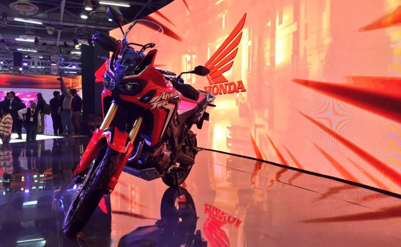 Honda CRF100L Africa Twin at Auto Expo 2016