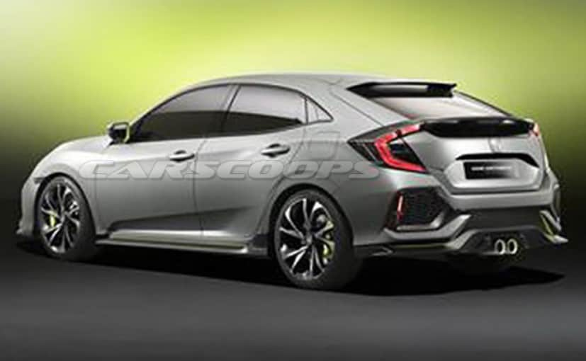 Honda Civic Hatchback Clear Pictures Leaked Ahead Of