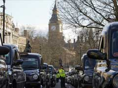London Black Cab Drivers Block Streets In Central London Uber Demo