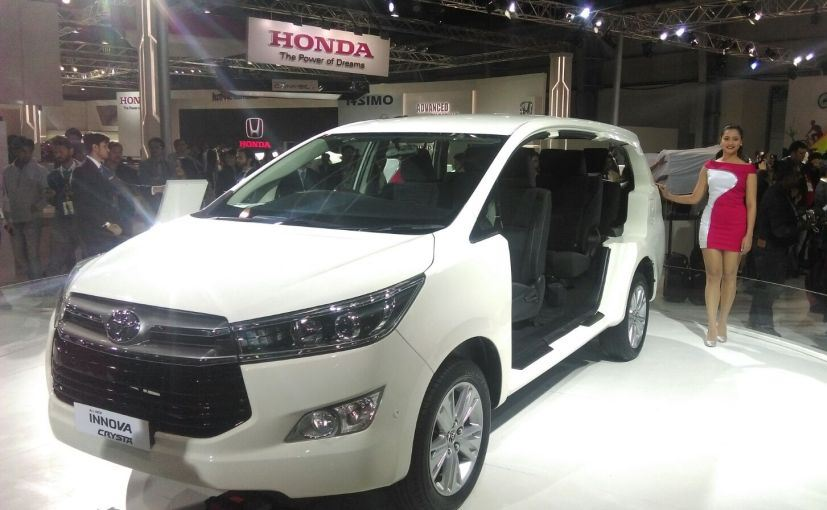 Auto Expo 2016 Launches Updates News Images: Auto Expo 2016: New Toyota Innova Crysta Unveiled In India