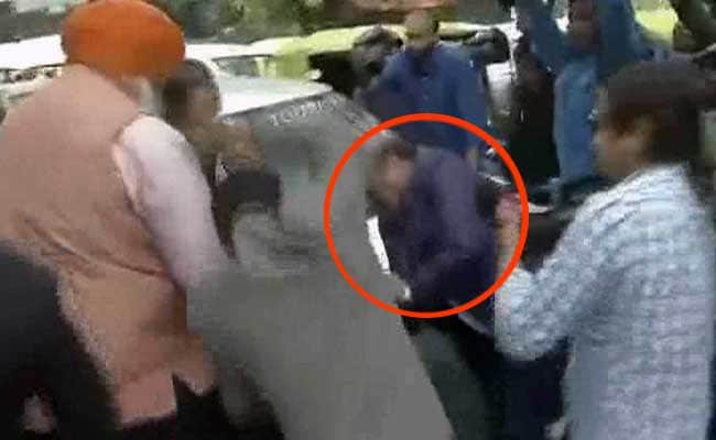 On Camera, BJP Legislator Beats Up Man At JNU Court Hearing