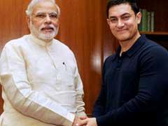 <b>'मेक इन इंडिया वीक' प्रोग्राम में आमिर और पीएम के बीच हुई मुलाकात</b>
