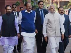 PM Narendra Modi Greets Sharad Pawar in Rajya Sabha