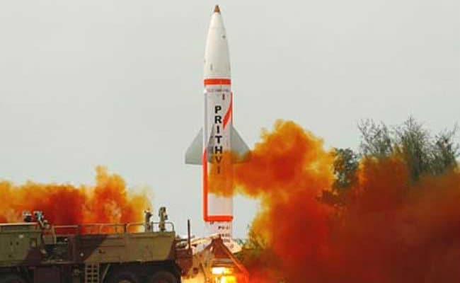 भारत ने स्वदेश में विकसित 'पृथ्वी दो' मिसाइल का सफल प्रक्षेपण किया